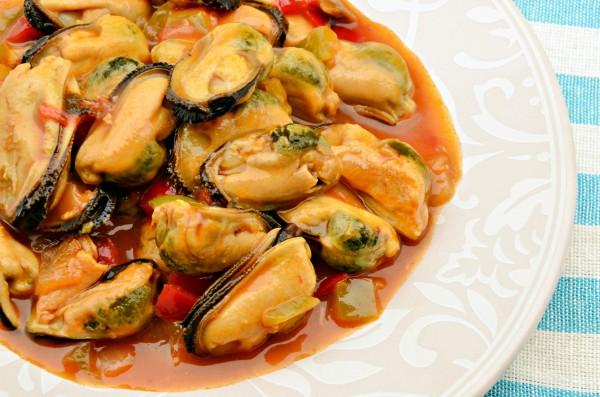 Рецепт                  Мидии в томатном соусе