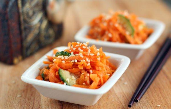Рецепт                  Острый салат из моркови