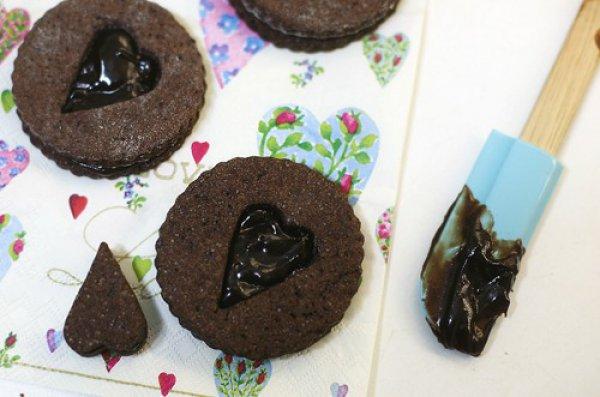 Рецепт                  Печенье c шоколадными ирисками