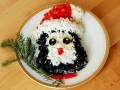 Новогодний салат Пингвинчик