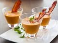 Тыквенный суп с нутом и беконом
