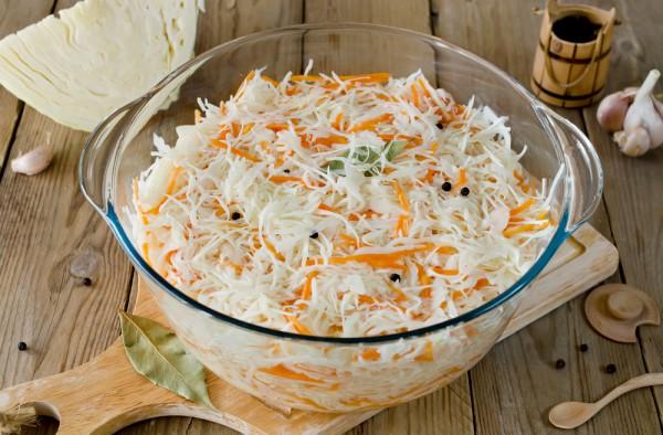 Рецепт                  Рецепт хрустящей квашеной капусты с морковью