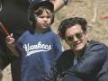 Орландо Блум сходил с сыном на бейсбольный матч