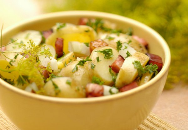 Рецепт                  Копченая грудинка с картофелем на гриле