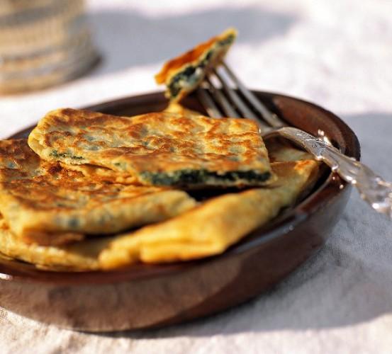 Рецепт                  Сырные лепешки за 5 минут