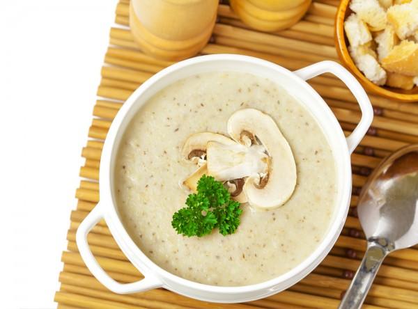 Полезный рецепт: грибной суп-пюре на кокосовом молоке
