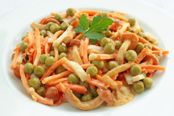 Салат ветчина и морковь по-корейски