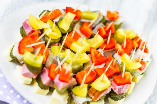 Рецепт                  Новогодние рецепты: Канапе с болгарским перцем