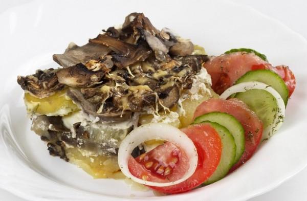 Рецепт                  Запеканка из картофеля и грибов