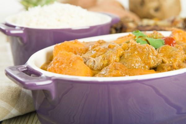 Рецепт                  Куриное жаркое с картофелем и арахисом