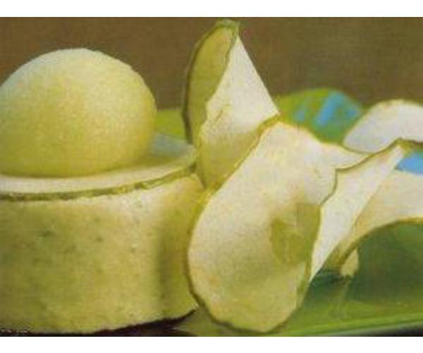 Рецепт                  Баваруа с зеленым яблоком и грейпфрутом