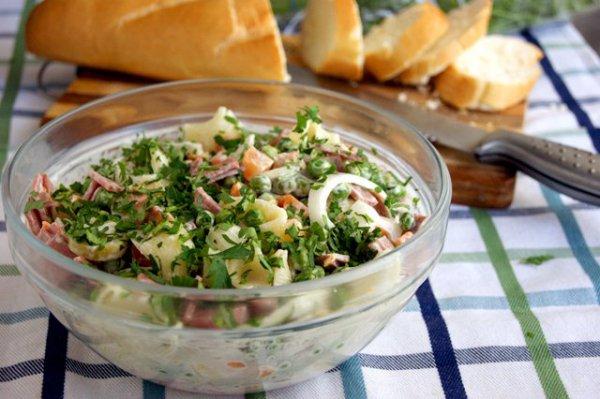 Рецепт                  Датский салат с макаронами