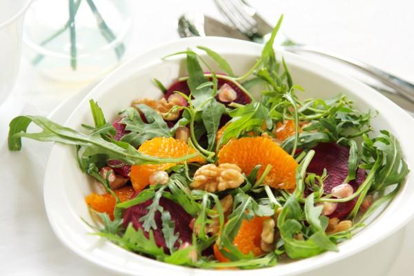 Рецепт                  Постный салат из свеклы и апельсинов