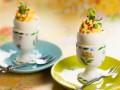 Фаршированные яйца с редисом