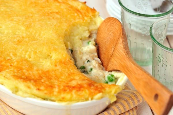 Рецепт                  Картофельная запеканка с рыбой и сыром
