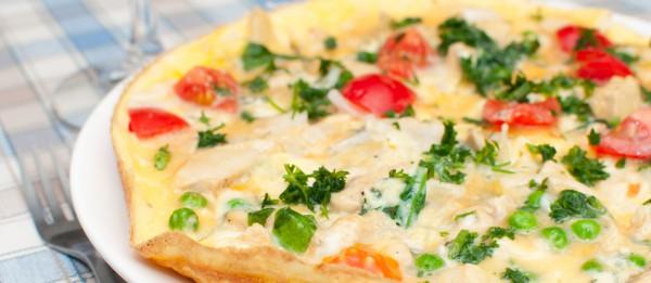Рецепт                  Фриттата с помидорами и шпинатом