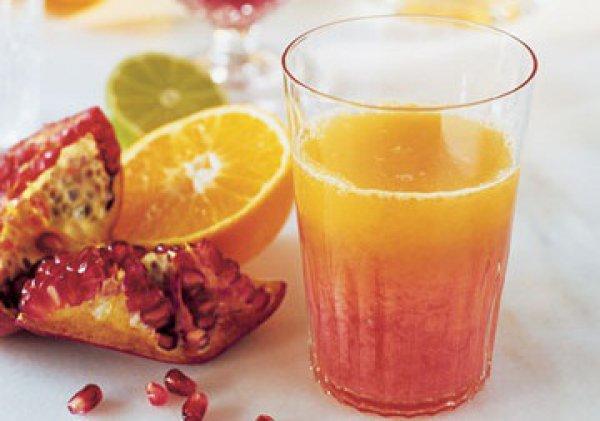 Рецепт                  Летний напиток: Цитрусовый фреш с гранатовым соком