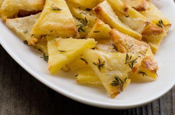 Рецепт                  Запеченный картофель с розмарином и тимьяном