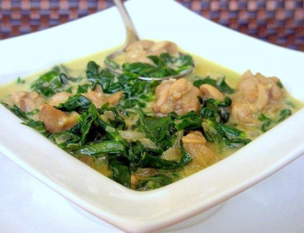 Рецепт                  Курица в сливочном соусе со шпинатом