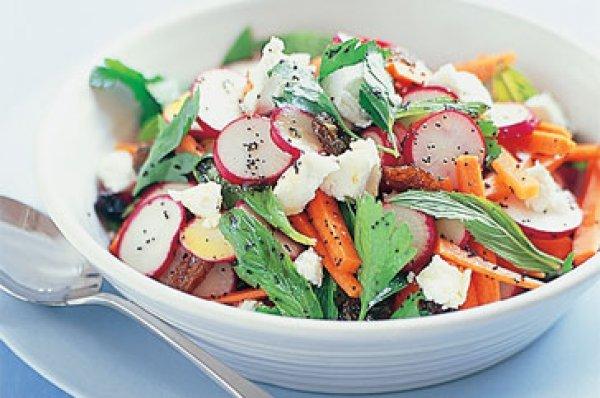 Рецепт                  Весенний салат из редиса
