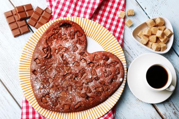 Рецепт                  Рецепты на День Валентина: Шоколадный пирог в виде сердца