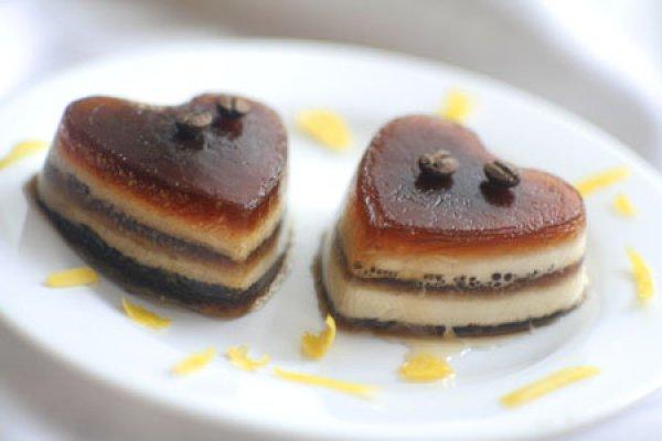 Рецепт                  Кофейно-сливочное желе ко дню Святого Валентина