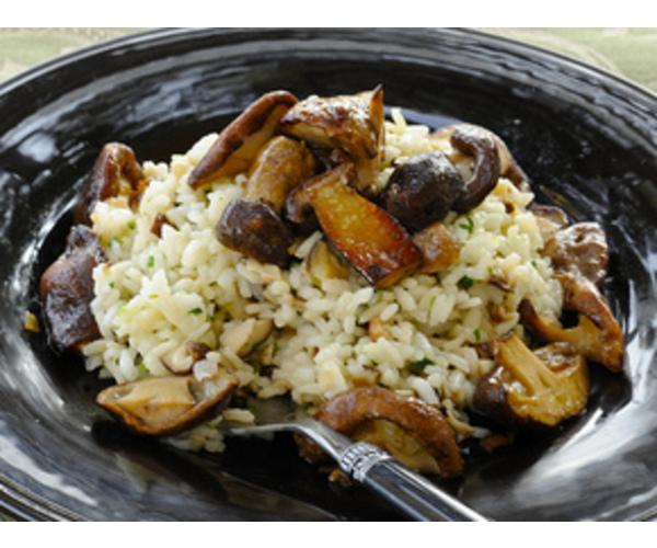 Рецепт                  Рис с грибами