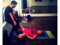 Яна Соломко показала фото своей тренировки
