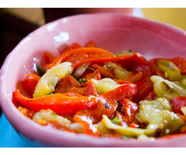 Рецепт                  Овощной салат с мятой
