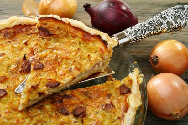 Рецепт                  Французский луковый пирог