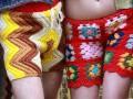 Странная мужская мода: Вязаные брюки и шорты