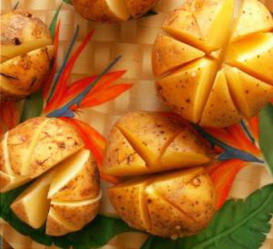 Рецепт                  Печеный картофель на гриле