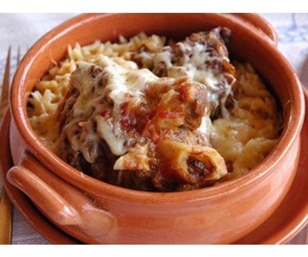 Рецепт                  Запеченные с мясом макароны