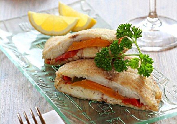 Рецепт                  Жареная рыба с болгарским перцем