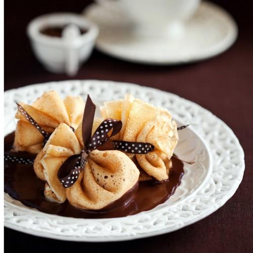 Рецепт                  Масленица 2015: Блинные мешочки с ананасами
