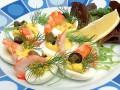 Новогодние рецепты: Фаршированные яйца с креветками