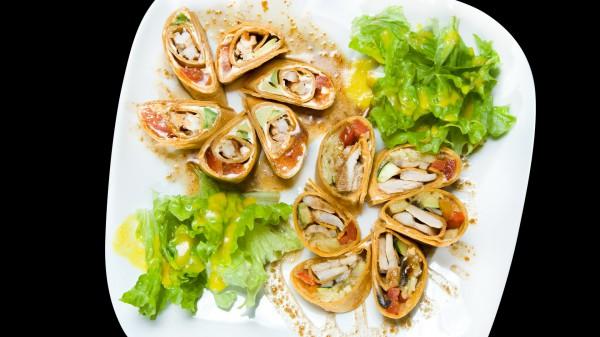 Рецепт                  Блины с курицей и овощами