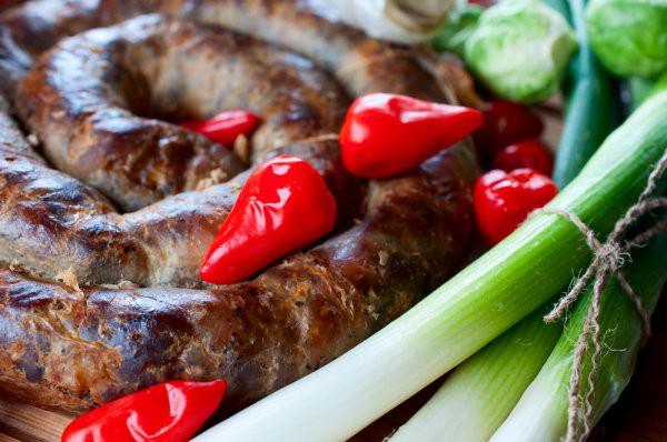 Рецепт                  Домашняя колбаса из трех видов мяса