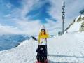 Наталья Подольская вместе с сыном поднялись на вершину горы