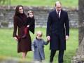Принц Джордж и принцесса Шарлотта впервые посетили рождественскую службу