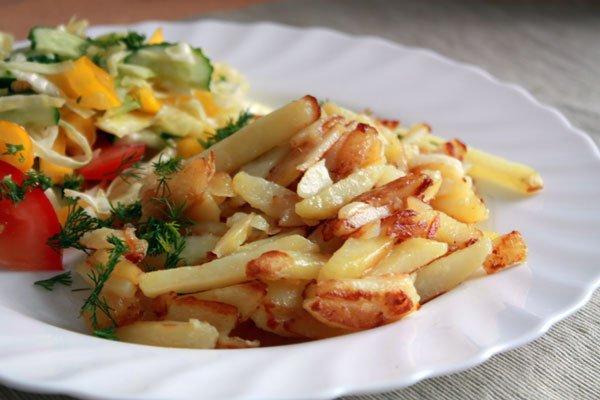 Рецепт                  Жареный картофель