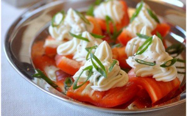 Рецепт салата с сыром филадельфия