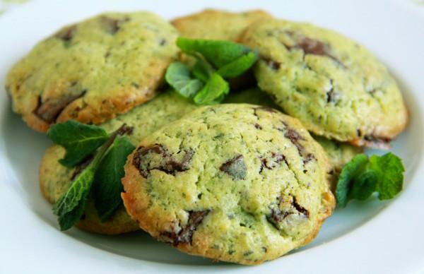 Рецепт                  День святого Патрика 2015: Мятно-шоколадное печенье