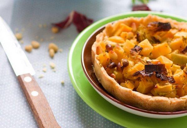 Рецепт                  Пирог с тыквой и луком