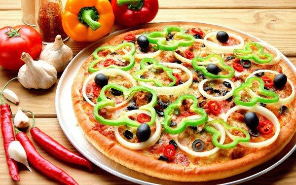 Рецепт                  Постная выпечка: Пицца с чесноком и оливками
