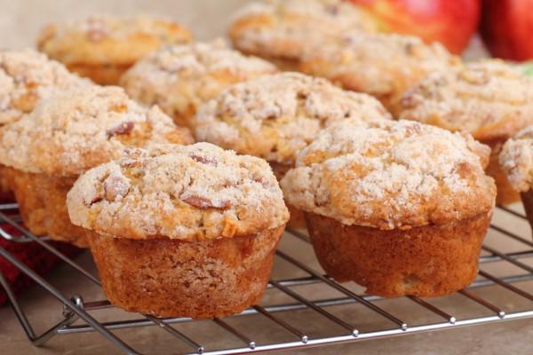 Рецепт                  Яблочные маффины с медом и корицей