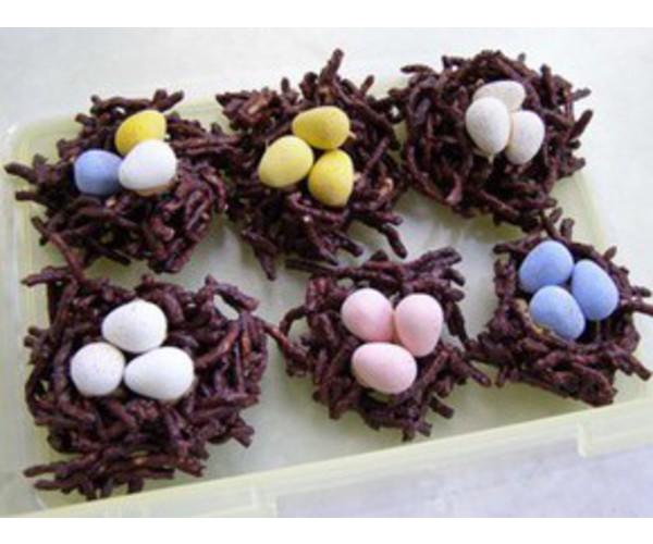 Рецепт                  Шоколадные гнезда