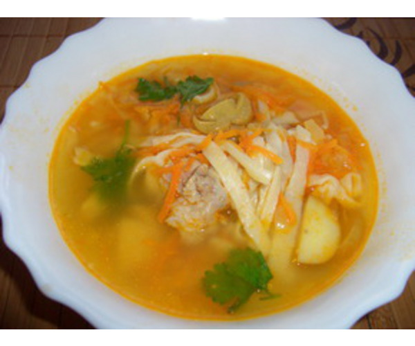 Рецепт                  Куриный суп а-ля уйхази