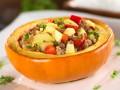 Фаршированная тыква с мясом и овощами
