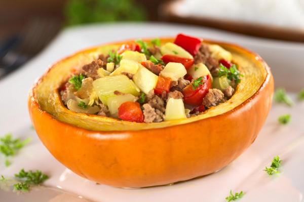 Рецепт                  Фаршированная тыква с мясом и овощами